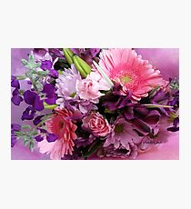 A Passion for Pink and Purple Photographic Print