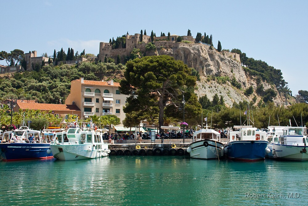 Cassis Harbor by Robert Kelch, M.D.