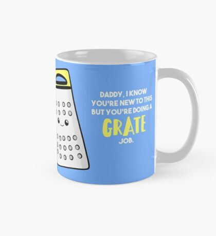 Funny First Father's Day Card - New Dad - Birthday - Grate Job - Puns Mug