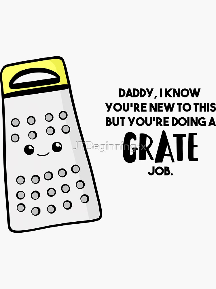 Funny First Father's Day Card - New Dad - Birthday - Grate Job - Puns by JTBeginning-x