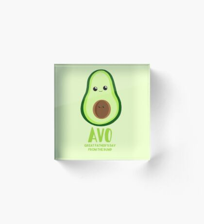 Avocado - Father's Day from the BUMP - Funny - Puns Acrylic Block