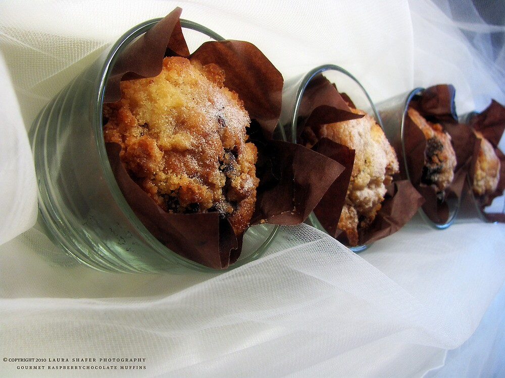 GOURMET RASPBERRY CHOCOLATE MUFFINS by Laura E  Shafer