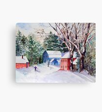 Snowshoeing in Strawberry Banke Canvas Print