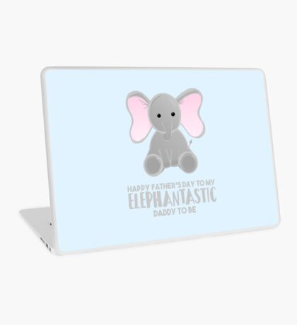 Fathers Day from the Bump  - Elephantastic Daddy to be Laptop Skin