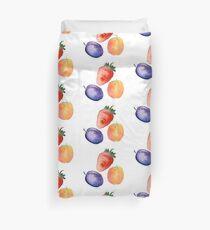 Set of Doodle Fruits - for scrapbook or design - hand drawn  Duvet Cover