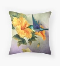Little Humming Bird Throw Pillow