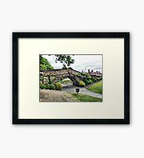Dell Bridge . Framed Print