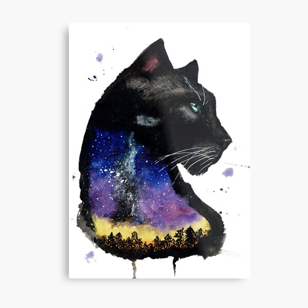 Galaxy Panther Metal Print