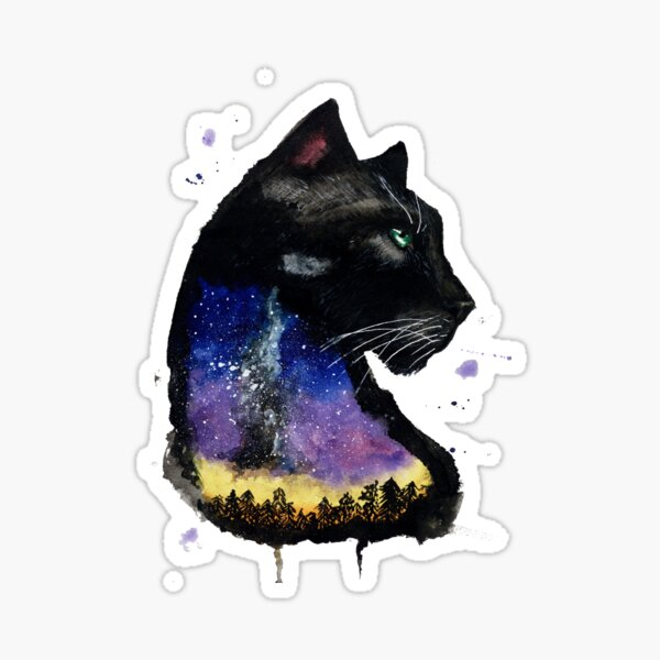 Galaxy Panther Sticker