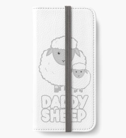 Daddy Sheep T Shirt  - Fathers Day - Birthday - Funny  - Pun iPhone Wallet