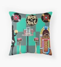 Rock and Roll is Here to Stay Throw Pillow