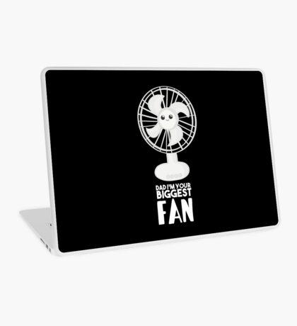 Funny Fathers Day Shirt - Dad I'm your Biggest Fan  - Birthdaay Laptop Skin