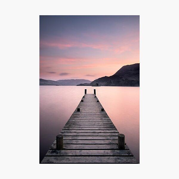 Glenridding Jetty Sunrise Photographic Print