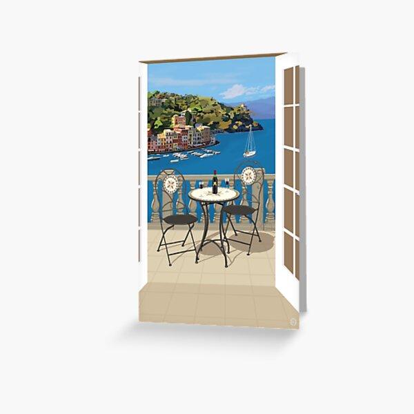A Mediterranean View Greeting Card