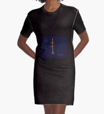 Ogham Eiche T-Shirt Kleid