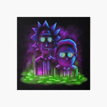 Rick and Morty™ | Neon Style Art Board Print