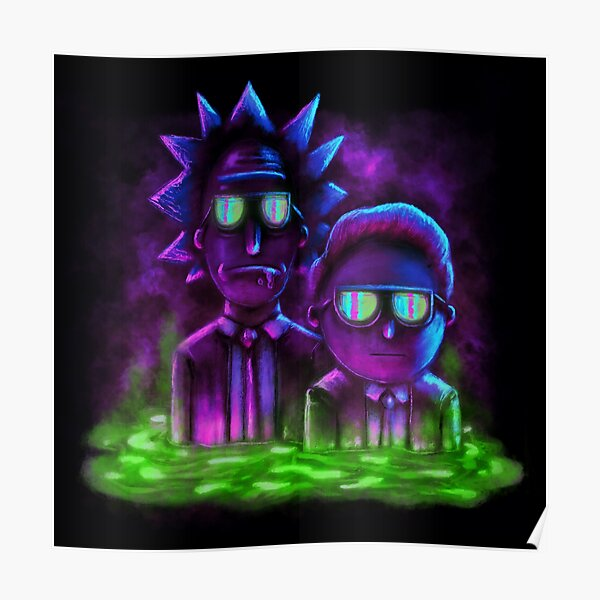 Rick and Morty™   Neon Style Poster