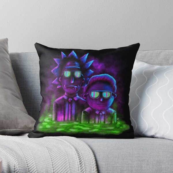 Rick and Morty™ | Neon Style Throw Pillow