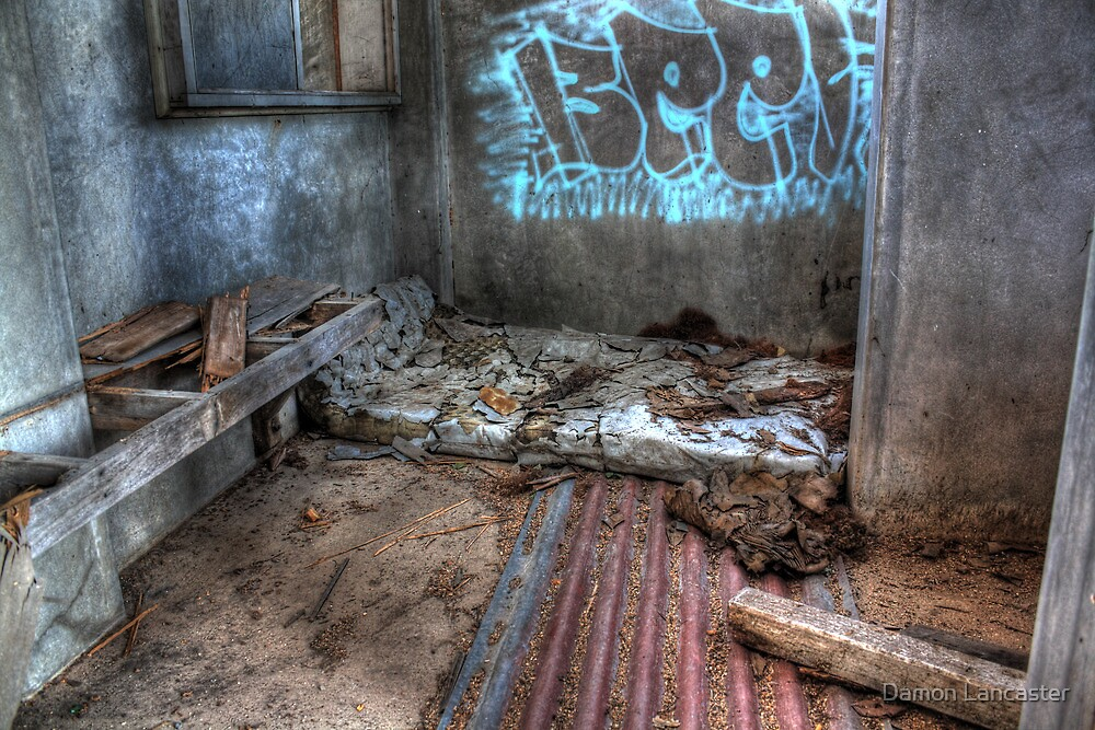 As I Lay Me Down To Sleep....Abandoned Mental Asylum, Wacol Brisbane, by Damon Lancaster