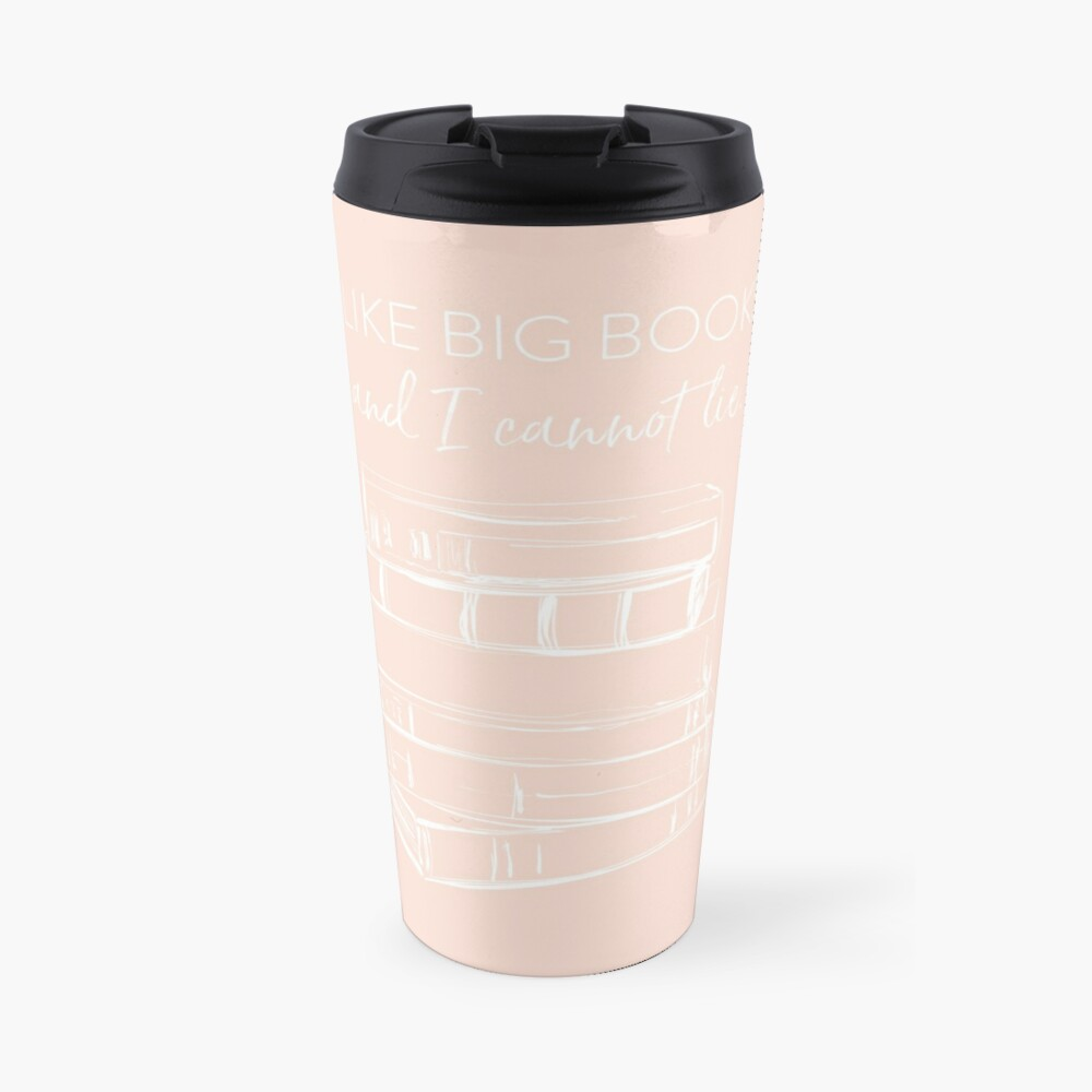 I Like Big Books (white) Travel Mug
