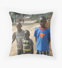 Rwandan Kids II Throw Pillow