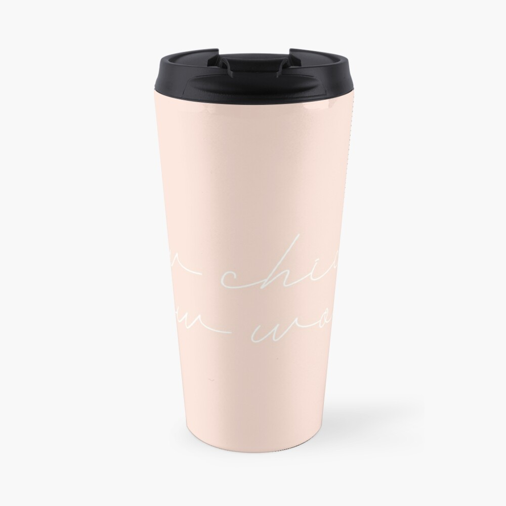 Bow Chicka Bow Wow (white) Travel Mug