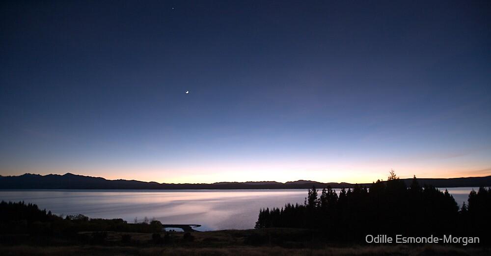 Moon & Venus over Lake Pukaki, NZ by Odille Esmonde-Morgan