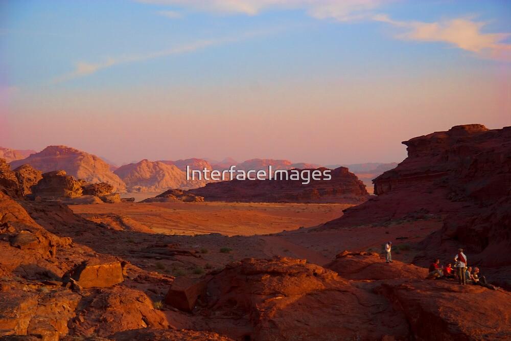 Wadi Rum Desert in Jordan - Sunset by InterfaceImages