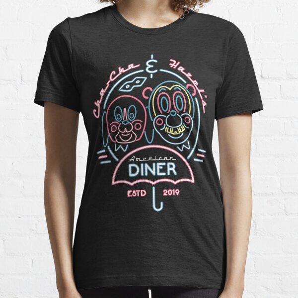Cha Cha & Hazel Diner - Neon Umbrella Sign - Comic Book Essential T-Shirt