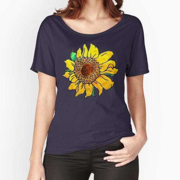 Painted Sunflower Relaxed Fit T-Shirt