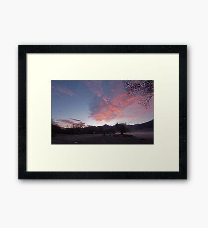 Frosty morning, KInloch on Lake Wakatipu, NZ Framed Print