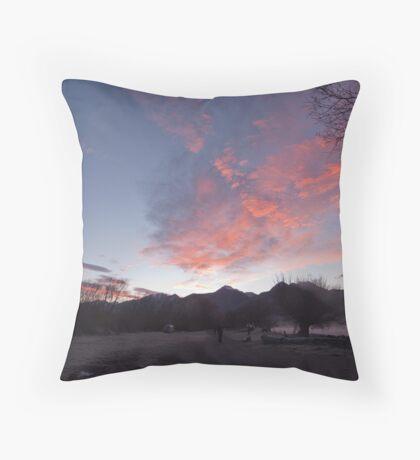 Frosty morning, KInloch on Lake Wakatipu, NZ Throw Pillow