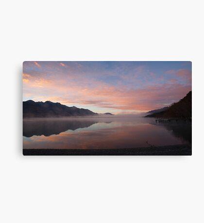 Lake Wakatipu (NZ) at dawn, looking south from Kinloch Canvas Print