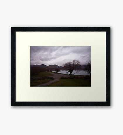 Lake Wakatipu foreshore at Kinloch, NZ Framed Print