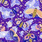 «Mariposas sobre fondo lila» de alquimista