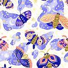 «Mariposas y estrellas sobre fondo blanco» de alquimista