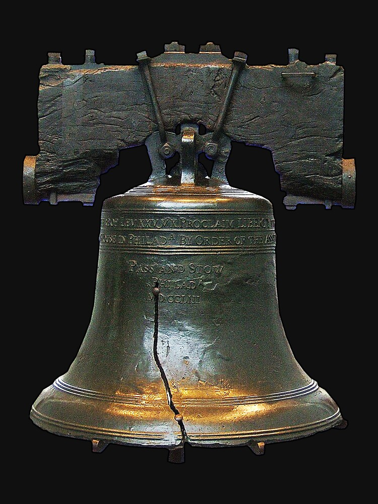 LIBERTY BELL, on black by TOMSREDBUBBLE
