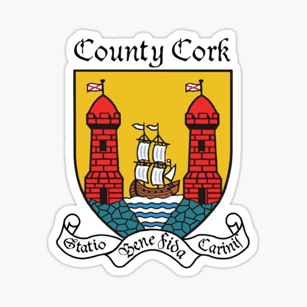County Cork Ancient Crest Sticker