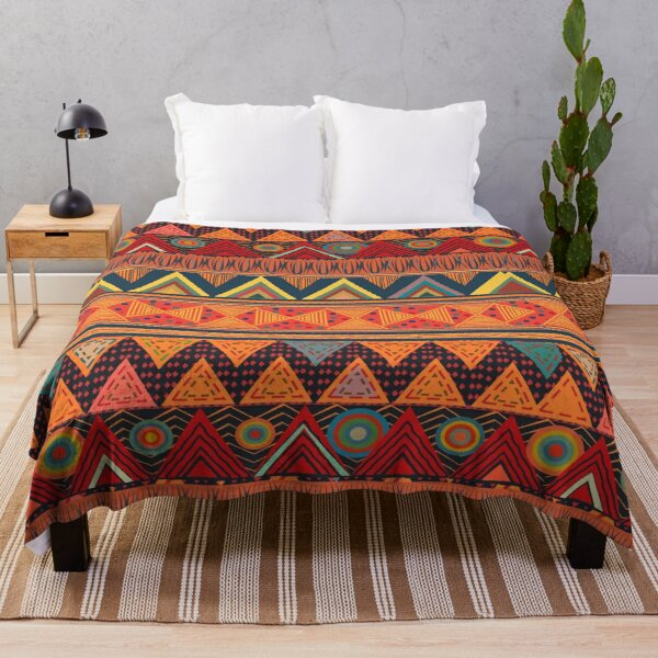 Tribal Ethnic (earth colors) Throw Blanket