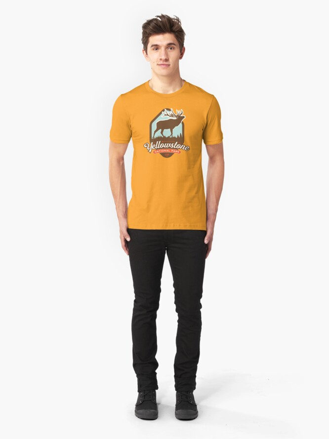 Alternate view of Yellowstone National Park Slim Fit T-Shirt
