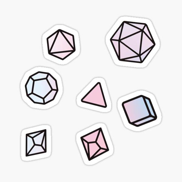 Opal Dice Pattern Sticker
