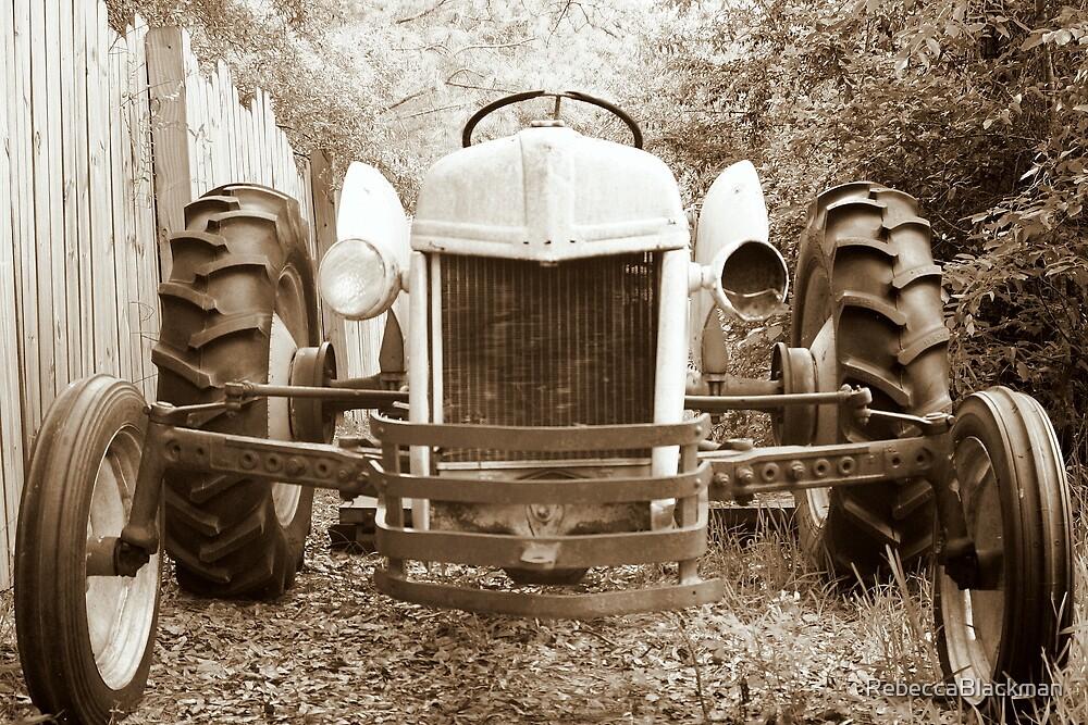Old Tractor by RebeccaBlackman
