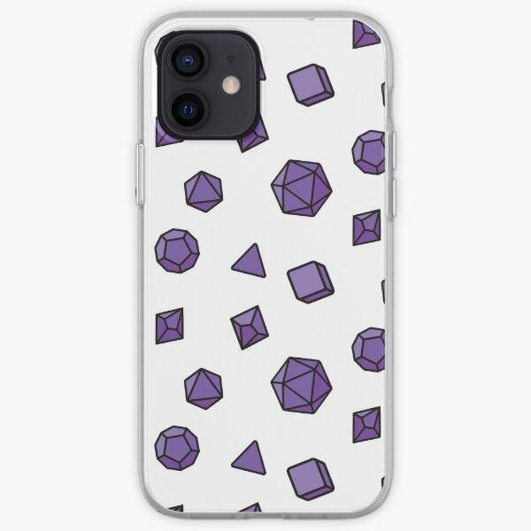 Purple Dice Pattern iPhone Soft Case