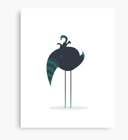 Melancholic Bird Canvas Print