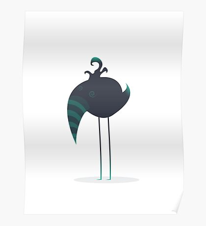 Melancholic Bird Poster
