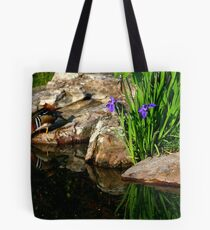 Mandarin in the Mirror Tote Bag