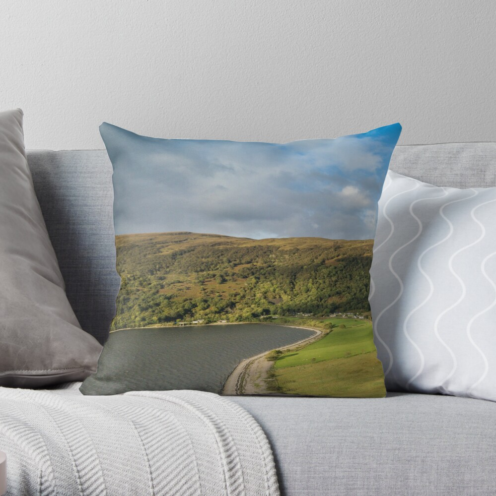 """Stags 16/"""" Zipped Linen Cushion Cover Stags Glencoe Scottish"""
