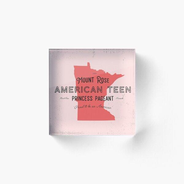Mount Rose American Teen Princess Pageant Acrylic Block