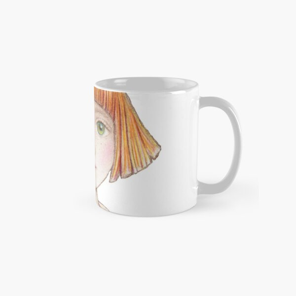 little girl with red hair and bow Classic Mug