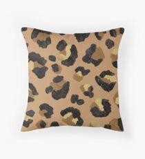 Leopard Print – Neutral & Gold Palette Floor Pillow